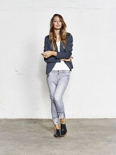MOS MOSH // Amour Tee - Dolce Blazer - Jaime Turn-up Jeans