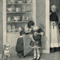 1911 Where the Cookies are Kept Gertrude by HeatherwoodArtPrints, $8.50