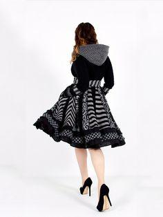 Urban Chic - Custom Gothic Black Sweater Coat. $488.00, via Etsy.