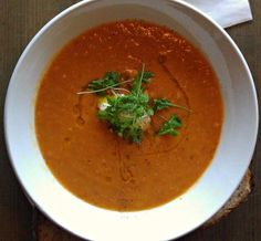 Moroccan Red Lentil Soup with Tomatoes and Carrots: Red Lentil Soup