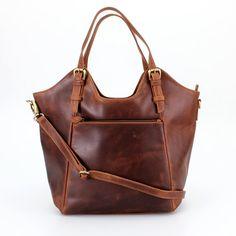 Braunes Leder Handtasche Tote Tasche von TheLeatherStore auf Etsy