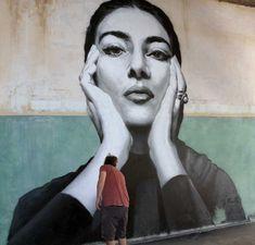 KLE street art. Maria Callas