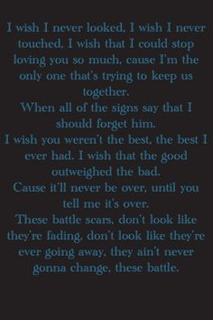 Battle scars-- I absolutely love this song know I cant get it out of my head XD