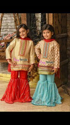 Wedding Dresses For Kids, Little Girl Dresses, Girls Dresses, Kids Indian Wear, Kids Ethnic Wear, Frocks For Girls, Kids Frocks, Beautiful Casual Dresses, Cute Dresses