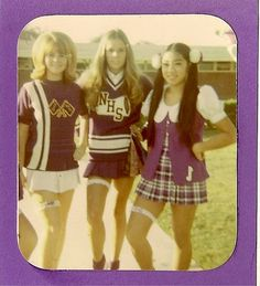 Cheerleaders, 1970 by ozfan22, via Flickr