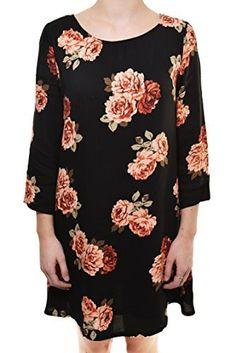 Vintage Rose A-Line Shirt Dress