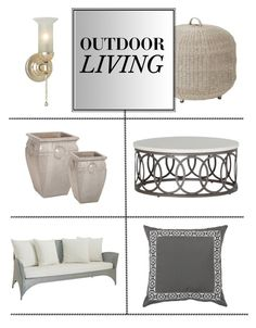 """Outdoor Decor"" by kathykuohome ❤ liked on Polyvore featuring interior, interiors, interior design, home, home decor, interior decorating, Home, outdoors and outdoorliving"