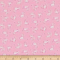 Penny Rose Strawberry Biscuit Poodle Pink from @fabricdotcom  Designed by Penny Rose Fabrics this cotton print is perfect for apparel, quilting and home decor accents. Colors include shades of pink and white.