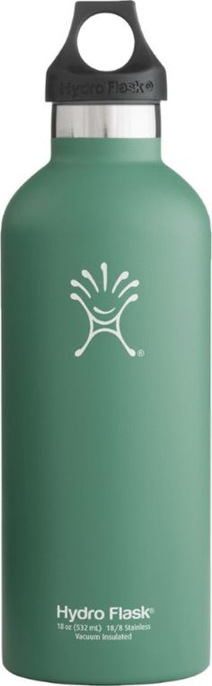 Hydro Flask Narrow-Mouth Vacuum Water Bottle - 18 fl. oz. Green Zen 18 Oz
