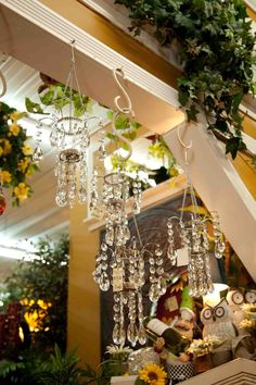 pretty chabby chic faux crystal mini / small chandeliers