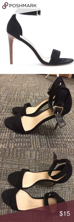 Black One-Strap Heels This is so cute and surprisingly comfortable! Selling because I have another pair that looks almost identical. It's only been worn for one night! Forever 21 Shoes Heels
