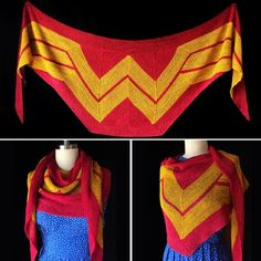Wonder Woman Wrap This Knit pattern / tutorial is available for free... Full post: Wonder Woman Wrap