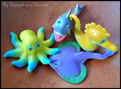 Ocean Themed Modeling Clay activity for kids - perfect while studying Oceans!