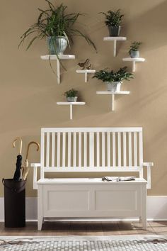 Entry Bench - Home Decorators Collection ( Bench Wood Modern White Living room)