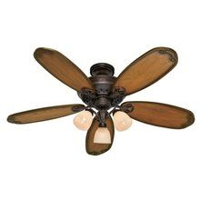 """View the Hunter 28786 Crown Park 54"""" 5 Blade Ceiling Fan - Blades and Light Kit Included at LightingDirect.com."""