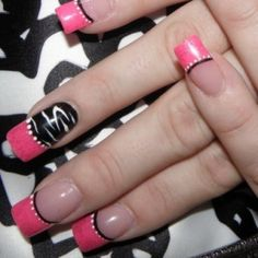 Nail Designs Pink French White Dots