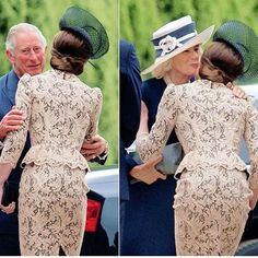 Today, Catherine, the Duchess of Cambridge greeted her father-in-law Prince Charles and step mother-in-law Camilla, Duchess of Cornwall. #katemiddleton