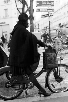 On the Street. - How to Ride A Bike With Grace, Paris.