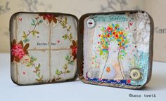 hens teeth : altered tin artwork : perfect day