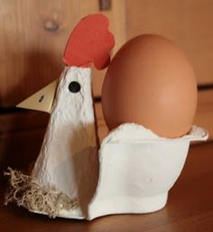 Art lessons from Belgium: Chicken egg-cup