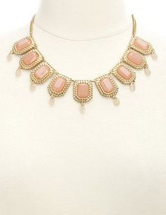 Dangling Faceted Stone Statement Necklace: Charlotte Russe