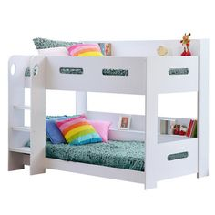 Buy Sky Bunk Bed in White - Ladder Can Be Fitted Either Side! from Furniture123 - the UK's leading online furniture and bed store
