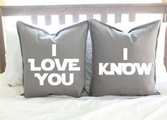I love Star Wars! This pillow cover set is perfect for any Star Wars fan! - 100% cotton; light gray, durable canvas material - Text is made of $40