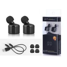 Voice Prompt True In-Ear Earbuds True Wireless Earphones CSR 4.2 Sport Stereo Bluetooth Earphone X1T for iphone 7 samsung
