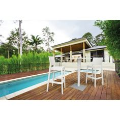 Inspiration aménagement terrasse- #blanc #noir #nature #moderne #design #piscine #terrasse #gris #restaurant #bar #tabouret