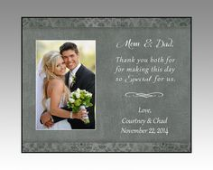 wedding parent thank you gift, personalized parent thank you picture frame