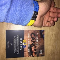 #worldcancerday#movemberfoundation#unityband#ADAYTOUNITE#blueandyellow#like4like world cancer day 4th fed 2016 gets yours @movemberuk by anthony9uk