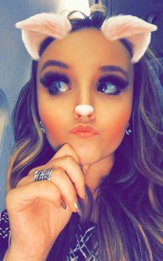 "Larissa Manoela via Aplicação Larissa Manoela Oficial "" Miau "" Charli Xcx, Youtubers, Snapchat, Halloween Face Makeup, Girly, Tumblr, Pasta, Bunny Pics, Celebrities"