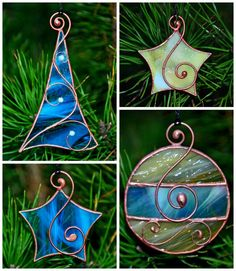 Stained Glass Ornaments, Stained Glass Christmas, Stained Glass Suncatchers, Faux Stained Glass, Stained Glass Lamps, Stained Glass Designs, Stained Glass Panels, Stained Glass Projects, Stained Glass Patterns
