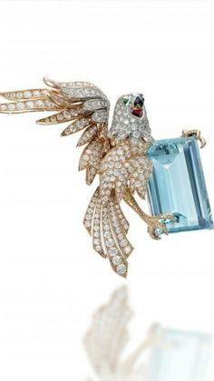 f339c21c3579 PICCHIOTTI - Exceptional Fauna- Essentially Colour Collection - Eagle  Brooch - White and Yellow Gold