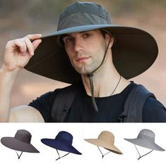 Unisex Foldable Wide Brim Sun Protection Bucket Hat