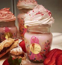 """Natural Soy Cupcake Candles - """"Strawberry Shortcake"""" by SIDStudios on Etsy"""