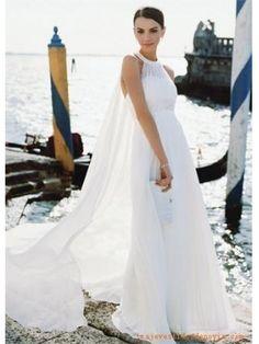 2O11 recién llegado Corte A sin Mangas de Gasa Vestidos de novias 2011