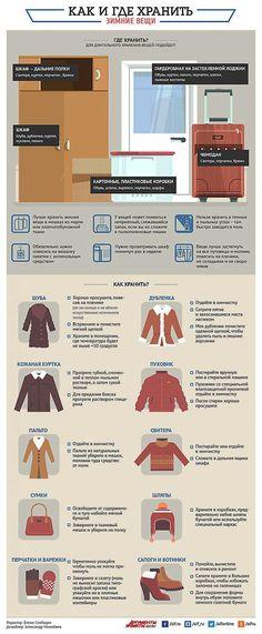 Где и как хранить зимние вещи? Инфографика | Полезные инструкции от aif.ru | полезные советы | Постила