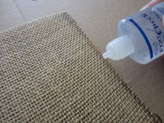 Burlap Stenciled Placemats (6)-seal edges with liquid seam binder