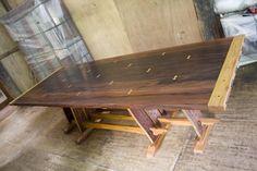 """ Hapag Kainan"" Iron wood top dining table"