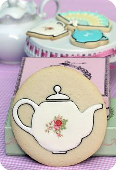Tea Party cookies... round with tea cup or pot or TVD logo dish.  The Swoon favors?