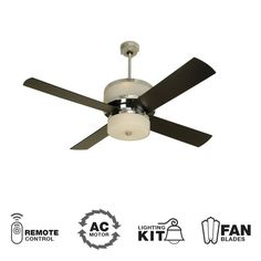 Fan blade angle the greater the angle of the blade the more shop for the craftmade chrome modern 4 blade indoor ceiling fan blades and light kit included and save aloadofball Gallery