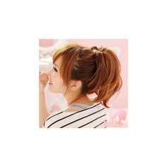 Hair Ponytails Light Brown - One Size ($27) ❤ liked on Polyvore