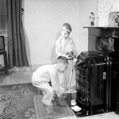 Sinterklaastijd in de jaren 1950.