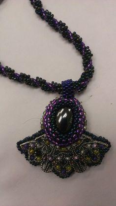 Belinda's Filigree bead embriodery necklace