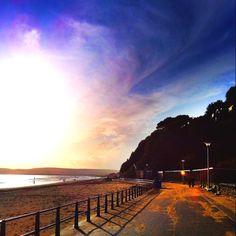 Canford cliffs, Bournemouth beach walk