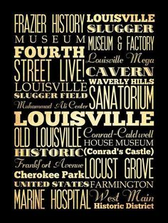 Louisville Kentucky Typography Art Poster / by LegacyHouseArt, $44.95