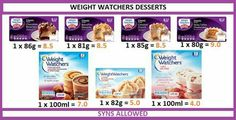 Weight watchers desserts Slimming World Desserts, Slimming World Syns, Slimming Word, Weight Watchers Desserts, Chocolate Desserts, Healthy Living, Deserts, Cooking Recipes, Meals