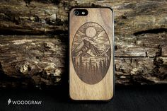 landscape Wood Case Nature iPhone 7, iPhone 6S, iPhone 6 Plus, iPhone 5s, iPhone 5C, iPhone 4 Wooden Gift Gadget Gifts For Men WOODGRAW