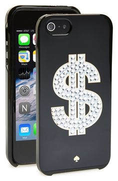 kate spade new york 'money sign' iPhone 5 & 5s case available at #Nordstrom